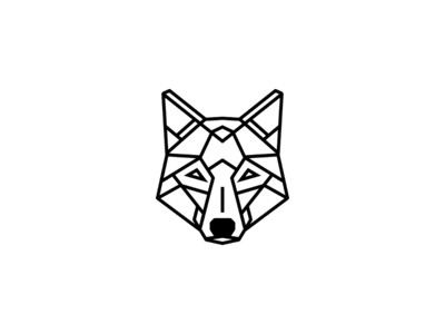 Geometric Tattoo - Simple geometric wolf tattoo design ...