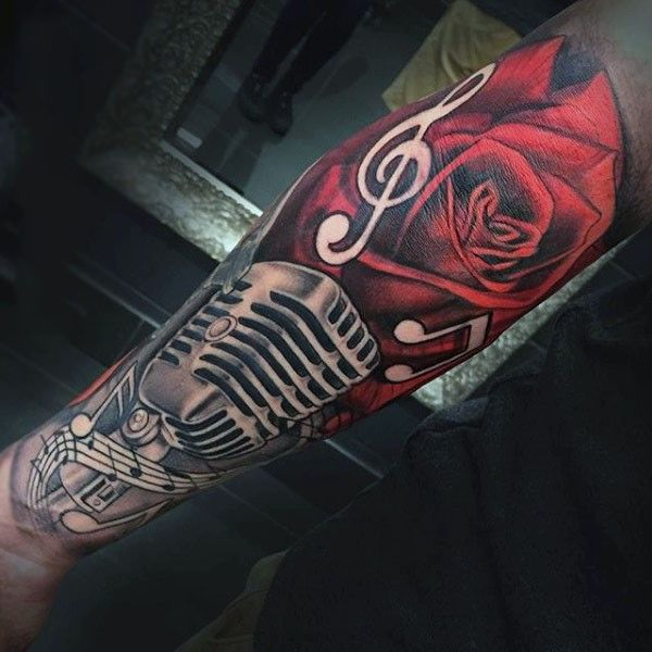 Tattoo Trends - 90 Microphone Tattoo Designs For Men ... | 600 x 600 jpeg 50kB
