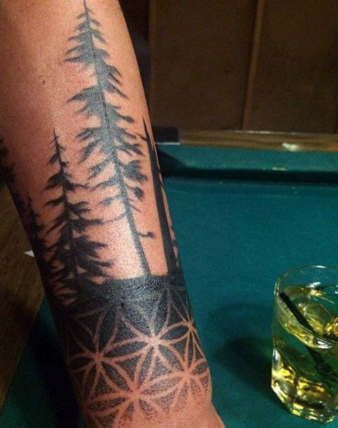 Male Forearm Symmetrical Tattoo Designs Of