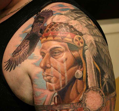 Top 10 Native American Tattoos: Native American Tattoo Designs And