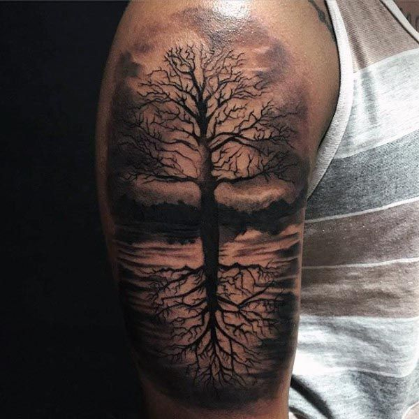 tattoo trends 100 tree of life tattoo designs for men manly ink ideas. Black Bedroom Furniture Sets. Home Design Ideas