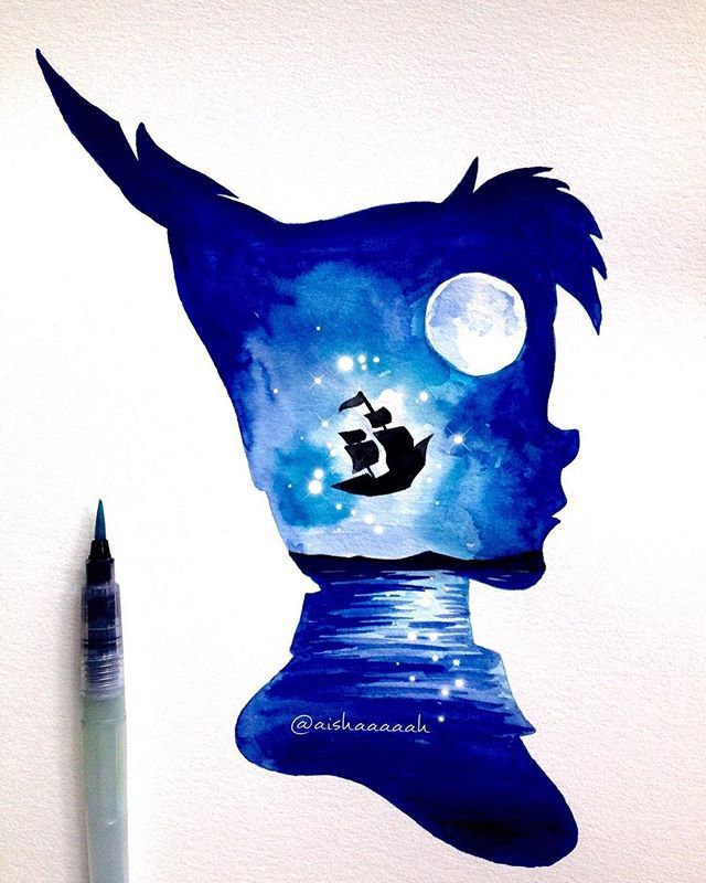 Disney Paint Colors And Ideas: #PeterPan Double Exposure. The Print Is Up