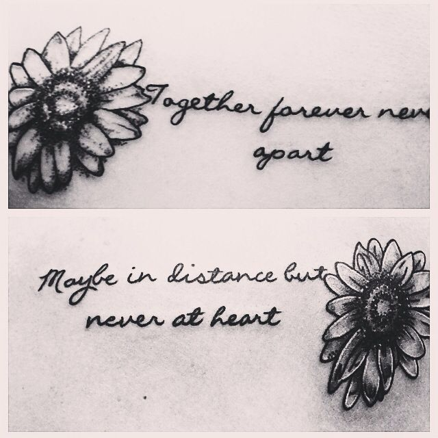 Friend tattoos bff tattoo together forever never apart for Together forever tattoos