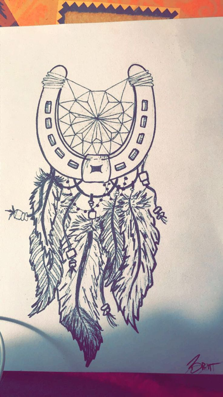 Friend Tattoos Horse Shoe Dream Catcher Tattoo Idea For A