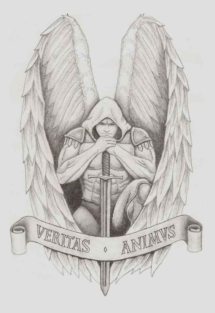 Archangel Gabriel Tattoo Design For Girls