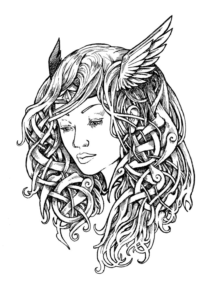 Tattoo Trends Valkyrie Tattoo Design Ink Drawing