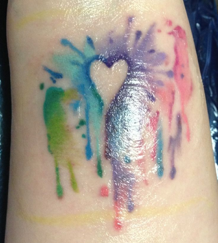 Watercolor Tattoos Abstract Watercolor And: Heart Watercolor Tattoos, Leg Tattoos