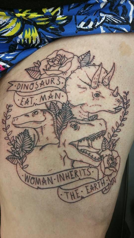 women tattoo dinosaur dinosaur tattoo thigh piece triceratops tattoo jurassic park juras. Black Bedroom Furniture Sets. Home Design Ideas