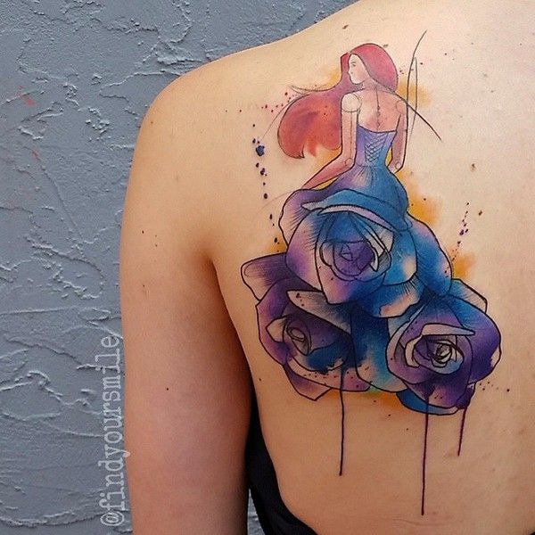 watercolor tattoo watercolor tattoo artist russell van