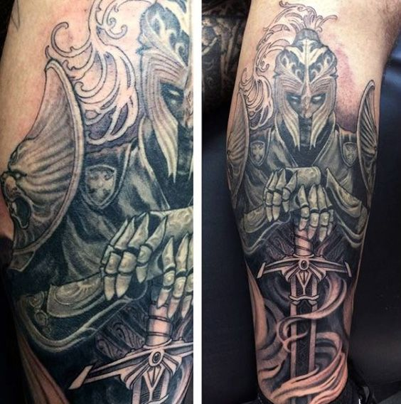 Tattoo Trends - Top 80 Best Knight Tattoo Designs For Men ...