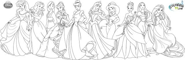 Disney Tattoo Disney Princess Coloring Pages Coloring99