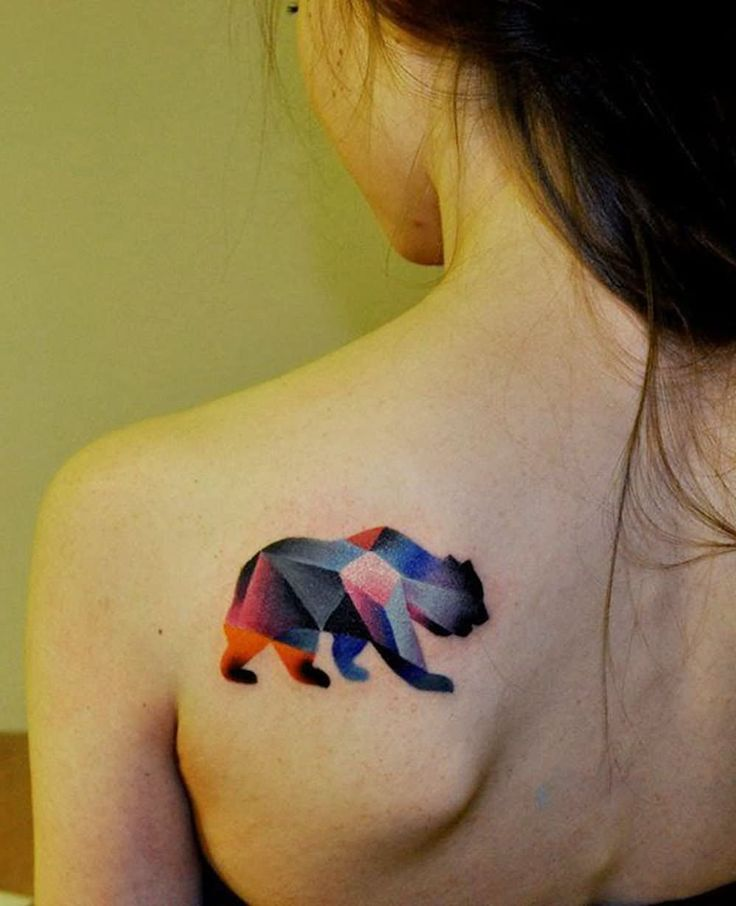 Watercolor tattoo - Bear Tattoo Images & Designs ... Watercolor Bear Tattoo