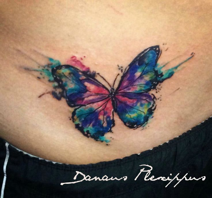Watercolor Tattoo Watercolor Tattoo Butterfly Full