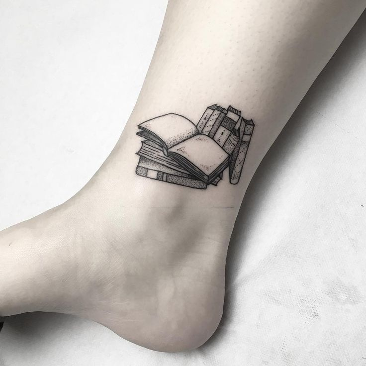 tiny tattoo idea 18 book tattoos for the ultimate reader your number. Black Bedroom Furniture Sets. Home Design Ideas