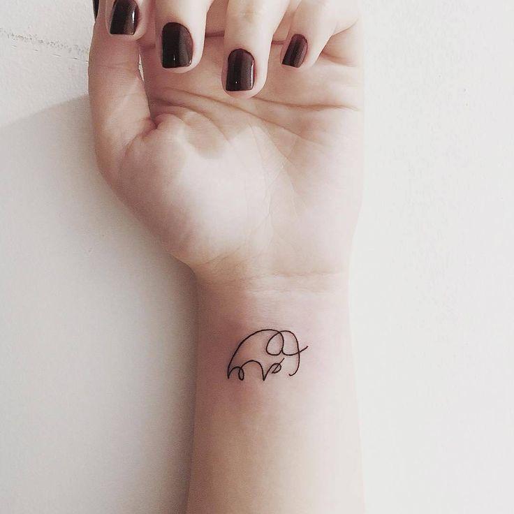 Tiny Tattoo Idea Tiny Elephant Inked On Wrist Tattooviral Com
