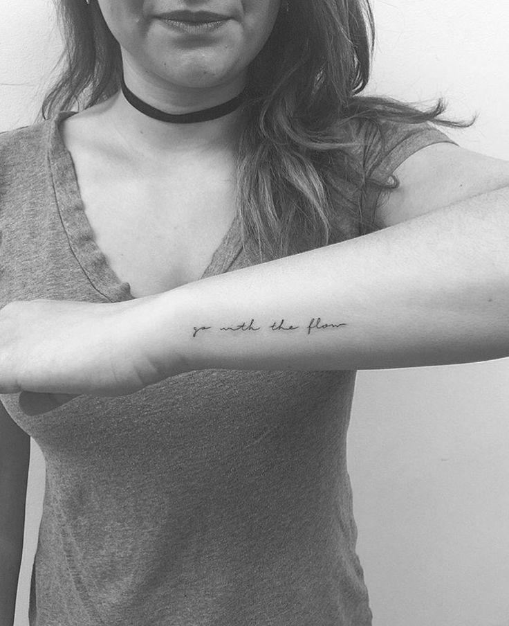 Tiny Tattoo. Inspring Text