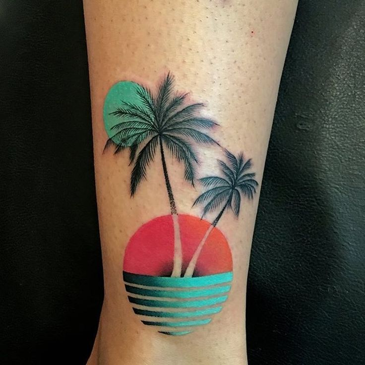 Exotic Flower Tattoos: Abstract Tropical Design