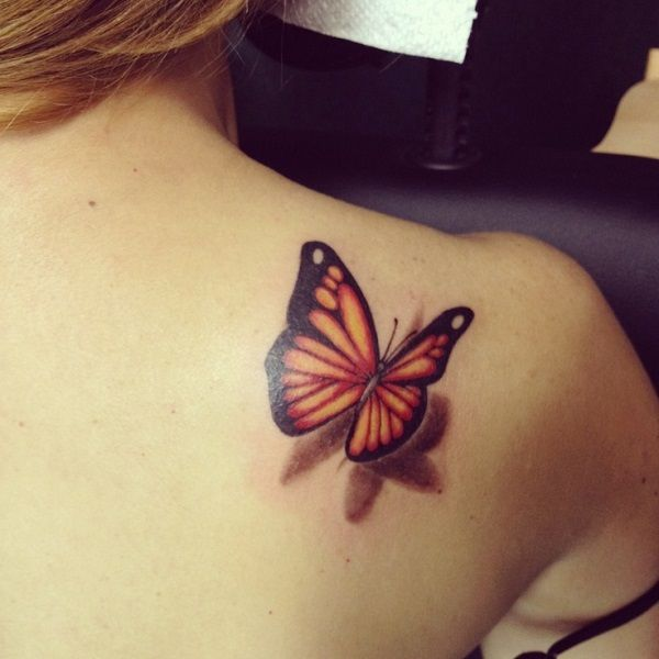 321ad3b96 Friend Tattoos - 3D butterfly tattoo 10 - 65 3D butterfly tattoos ...