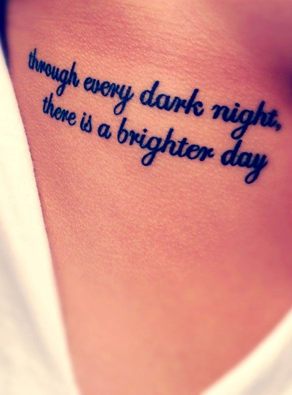 Tattoo Quotes - Quote tattoo on rib side - Through every ...