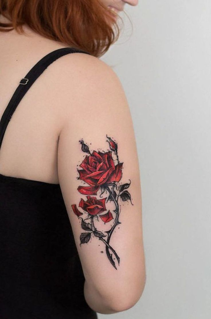 tattoo trends feed your ink addiction with 50 of the most beautiful rose tattoo designs for me. Black Bedroom Furniture Sets. Home Design Ideas