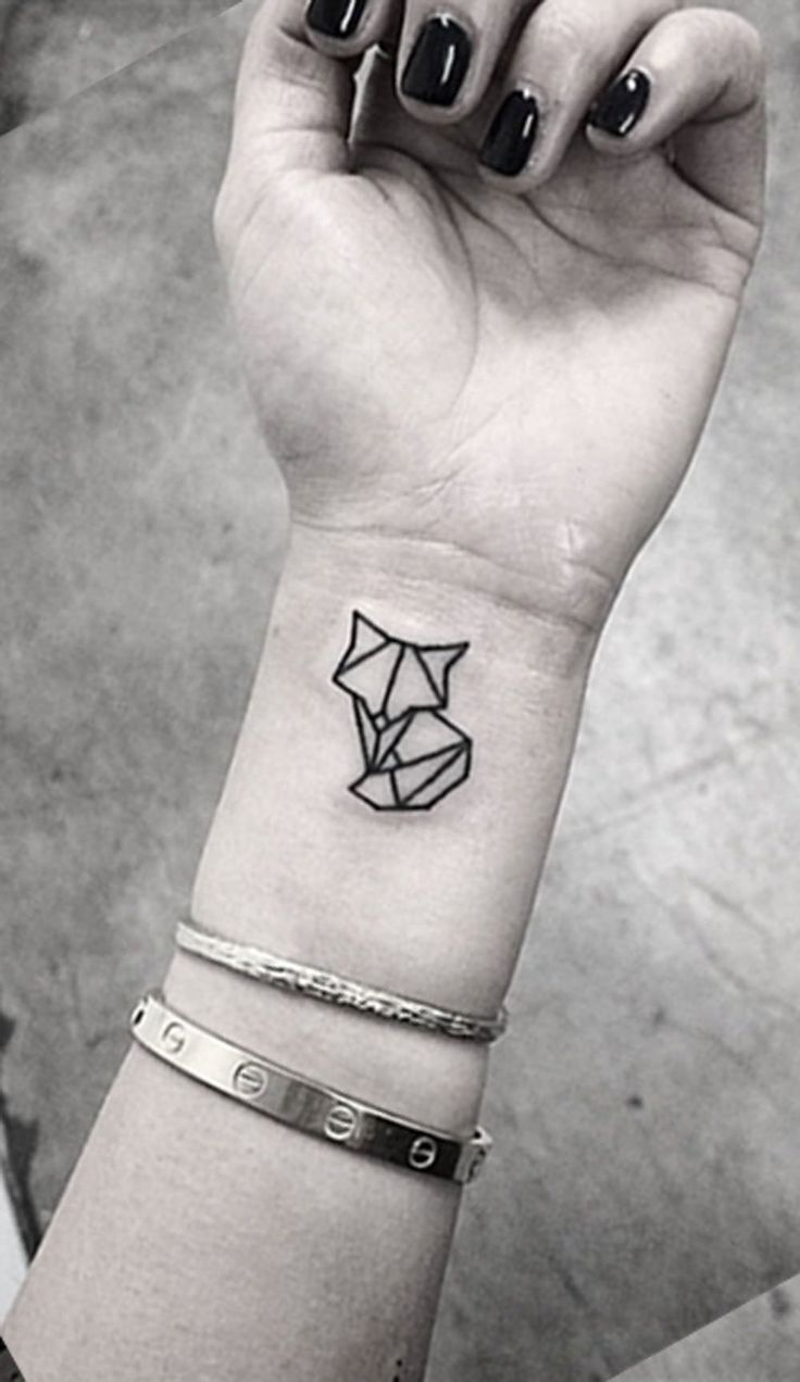 Small Minimal Geometric Wrist Arm Cat