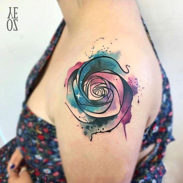 Tattoo Trends Tatouage Aquarelle Rose Epaule Femme Tattooviral