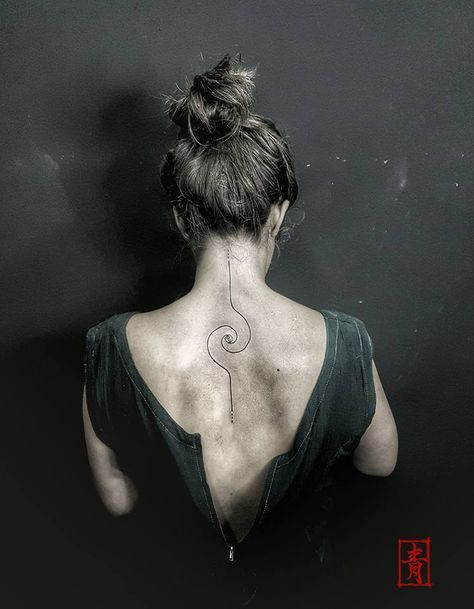 95838ae64 Geometric Tattoo - 15 Most Attractive Neck Tattoos for Girls ...