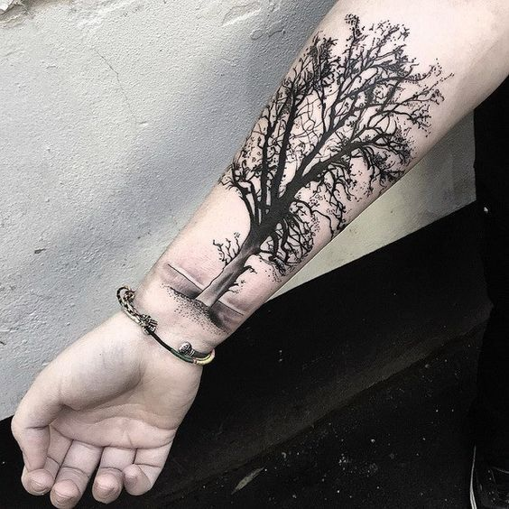 ad2a1f62f Tree Tattoo - 30 Awesome Forearm Tattoo Designs - TattooViral.com ...