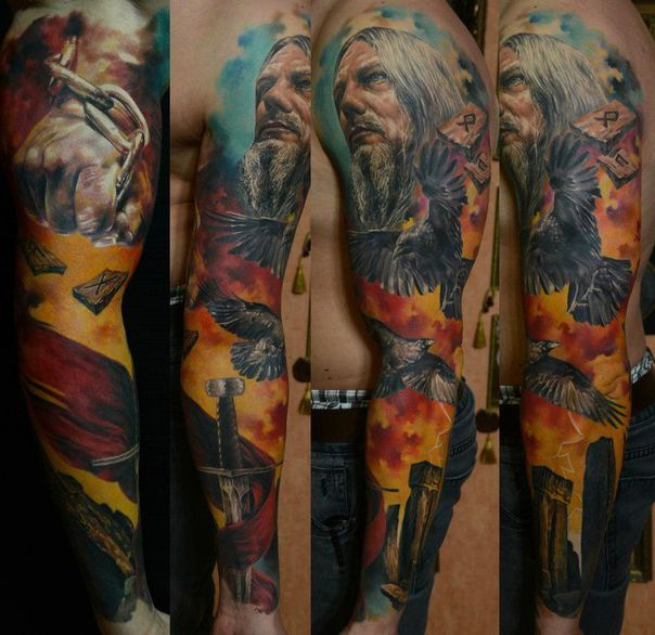 Tattoo Sleeve Nordic Tattoo Sleeve Idea For Men Tattooviral Com