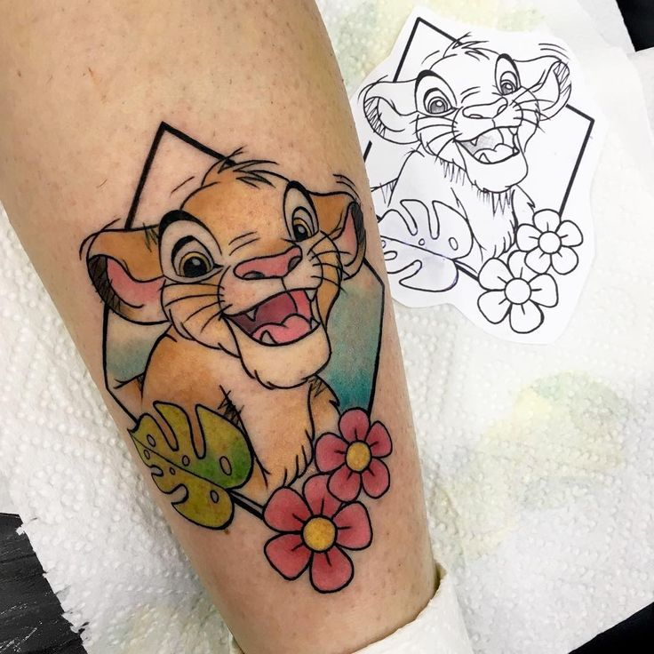 9b5538aa0af86 Disney Tattoo - Tatouage Disney Simba - TattooViral.com | Your ...
